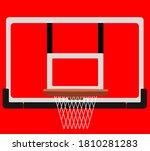 Basketball Backboard And Hoop...