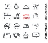 set of vector line icons on...