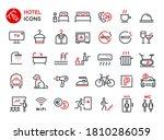set of vector line icons.... | Shutterstock .eps vector #1810286059