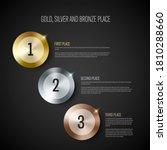 gold  silver and bronze prize... | Shutterstock .eps vector #1810288660