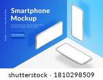 three white realistic isometric ... | Shutterstock .eps vector #1810298509