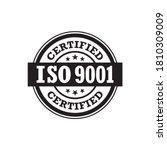 iso 9001 certified  label ... | Shutterstock .eps vector #1810309009
