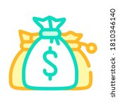 money bags color icon vector.... | Shutterstock .eps vector #1810346140