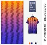 fabric textile design in orange ... | Shutterstock .eps vector #1810361710