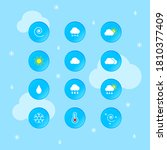 weather forecast icon vector set