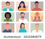 video conference. people group...   Shutterstock .eps vector #1810384879
