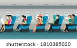all passengers are required to...   Shutterstock .eps vector #1810385020