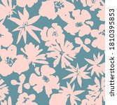 floral seamless pattern.... | Shutterstock .eps vector #1810395853