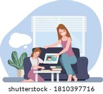 family caregivers keeping... | Shutterstock .eps vector #1810397716