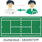 tennis side changing icon. flat ...