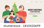 happy family celebrate... | Shutterstock .eps vector #1810420699