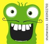 green funky monster character... | Shutterstock .eps vector #1810422703