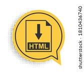 black html file document icon....   Shutterstock .eps vector #1810436740