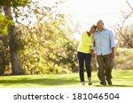 senior couple walking through... | Shutterstock . vector #181046504