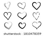 set of hand drawn hearts.... | Shutterstock .eps vector #1810478359