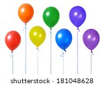 colorful balloons  | Shutterstock . vector #181048628