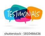 testimonials on colorful speech ...   Shutterstock .eps vector #1810486636