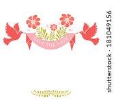 wedding invitation card.... | Shutterstock . vector #181049156
