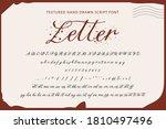 handwritten script font.... | Shutterstock .eps vector #1810497496