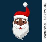 Cartoon Black Santa Claus...