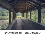 in the wood bridge over the... | Shutterstock . vector #181050380