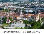 Aerial View Of Chur Townscape...