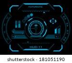 sci fi futuristic user... | Shutterstock .eps vector #181051190