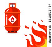 Red Gas Cylinder Dangerously...