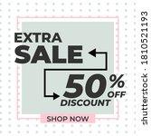 vector modern big sale banner...   Shutterstock .eps vector #1810521193