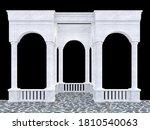 White Stone Portico With Arcade ...