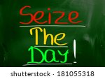 seize the day concept | Shutterstock . vector #181055318