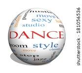 dance 3d sphere word cloud... | Shutterstock . vector #181056536