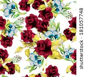 seamless floral pattern with of ... | Shutterstock .eps vector #181057748