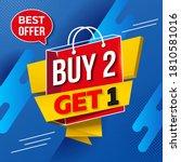 buy 2 get 1 free. sale of...   Shutterstock .eps vector #1810581016
