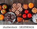 Rustic Halloween Treat Table...
