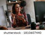 Businesswoman In Office Having...