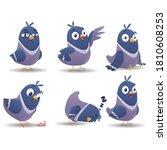 bird character set. cartoon... | Shutterstock .eps vector #1810608253