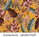 Tropical Leaves Fabric Design...
