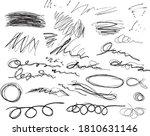 hand drawn irregular pen... | Shutterstock .eps vector #1810631146