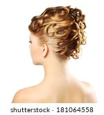 girl with modern hairstyle... | Shutterstock . vector #181064558