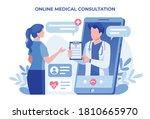 online medical consultation... | Shutterstock .eps vector #1810665970