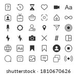 outline set icons for social...
