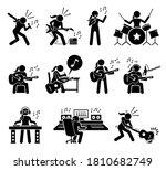 female music artist singing... | Shutterstock .eps vector #1810682749