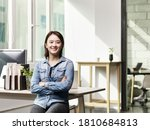 portrait of a young asian... | Shutterstock . vector #1810684813