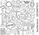 christian religion doodle icon... | Shutterstock .eps vector #1810687813