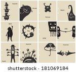 vector illustration of a set of ...   Shutterstock .eps vector #181069184