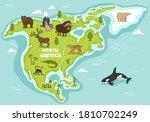 north america wildlife....   Shutterstock .eps vector #1810702249