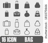 vector  icon bag  on white... | Shutterstock .eps vector #181070666
