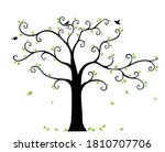 best tree wall painting images ... | Shutterstock .eps vector #1810707706