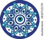 mandala greek evil eye vector   ... | Shutterstock .eps vector #1810712170